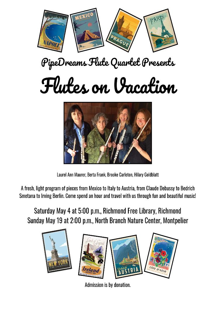 Flutes on vacation poster